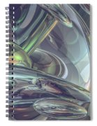 Macro Glass Reflections Spiral Notebook