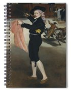 Mademoiselle V      In The Costume Of An Espada  Spiral Notebook