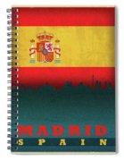 Madrid Spain City Skyline Flag Spiral Notebook