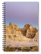 magenta Dawn in the Badlands  Spiral Notebook