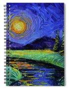 Magic Night - Detail 1 - Fantasy Landscape Spiral Notebook