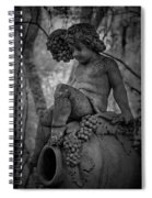 Magnolia Child Statue Spiral Notebook