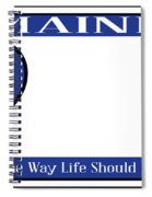 Maine State License Plate Spiral Notebook
