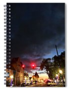 Maine Street Sunset  Spiral Notebook