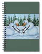 Making A Snowbaby Spiral Notebook