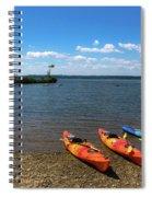 Mallows Bay And Kayaks Spiral Notebook