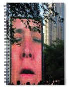 Man Face Crown Fountain Chicago Spiral Notebook