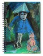 Man In A Park With A Baby Spiral Notebook
