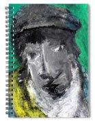 Man In A Scarf Spiral Notebook