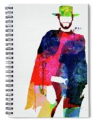 Man With No Name Watercolor Spiral Notebook