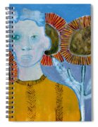 Man With Sunflowers Spiral Notebook