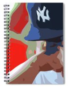 Man With Yankees Cap Spiral Notebook