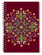 Mandala Flowering Series#2. Terracotta Spiral Notebook