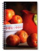 Mandarin Oranges And Orange Shaped Pitcher Spiral Notebook