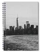 Manhatta, New Jersey And The Statue Of Liberty Spiral Notebook