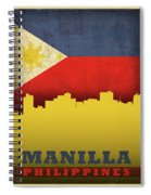 Manilla Philippines City Skyline Flag Spiral Notebook