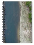 Manistee River Aerial Panorama Spiral Notebook