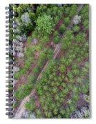Manistee River Aerial Spiral Notebook