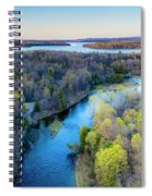 Manistee River And Hodenpyle Dam Aerial Spiral Notebook
