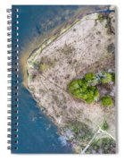 Manistee River Bend Aerial Spiral Notebook
