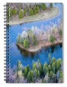 Manistee River Bend From Above Spiral Notebook