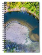 Manistee River Curve Aerial Spiral Notebook