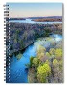 Manistee River Evening Aerial Spiral Notebook