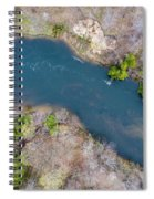 Manistee River From Above Spiral Notebook