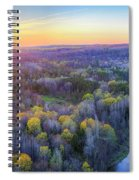 Manistee River Sunset Aerial Spiral Notebook