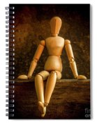 Mannequins On A Wooden Box Spiral Notebook