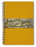 Map Of Crete 1584 Spiral Notebook