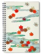 Maple Leaf - Japanese Traditional Pattern Design Spiral Notebook