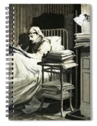 Marcel Proust Sat In Bed Writing Remembrance Of Things Past Spiral Notebook