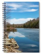 March Morning At Sanctuary Pond Spiral Notebook