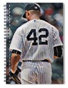 Mariano Rivera  New York Yankees Abstract Art 1 Spiral Notebook