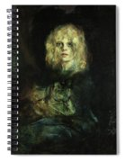 Marion With Cat Spiral Notebook