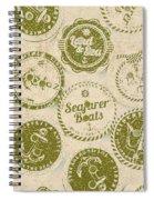 Maritime Motifs Spiral Notebook
