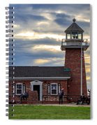 Mark Abbott Memorial Lighthouse And Santa Cruz Surfing Museum Spiral Notebook