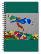 Mark And Bella Chagall Above The City Spiral Notebook