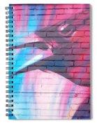 Maroon Blackbird Spiral Notebook
