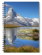 Matterhorn From Lake Stelliesee 07, Switzerland Spiral Notebook