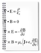 Maxwell's Equations Spiral Notebook