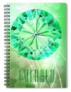 May Birthstone - Emerald Spiral Notebook