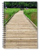 Boardwalk At Mccormack's Beach Provincial Park Spiral Notebook