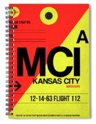 Mci Kansas City Luggage Tag I Spiral Notebook
