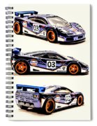 Mclaren F1 Gtr Spiral Notebook