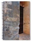 Medieval Castle Entrance In Algarve Spiral Notebook