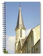 medieval church spire in France Spiral Notebook
