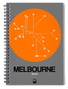 Melbourne Orange Subway Map Spiral Notebook
