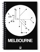 Melbourne White Subway Map Spiral Notebook